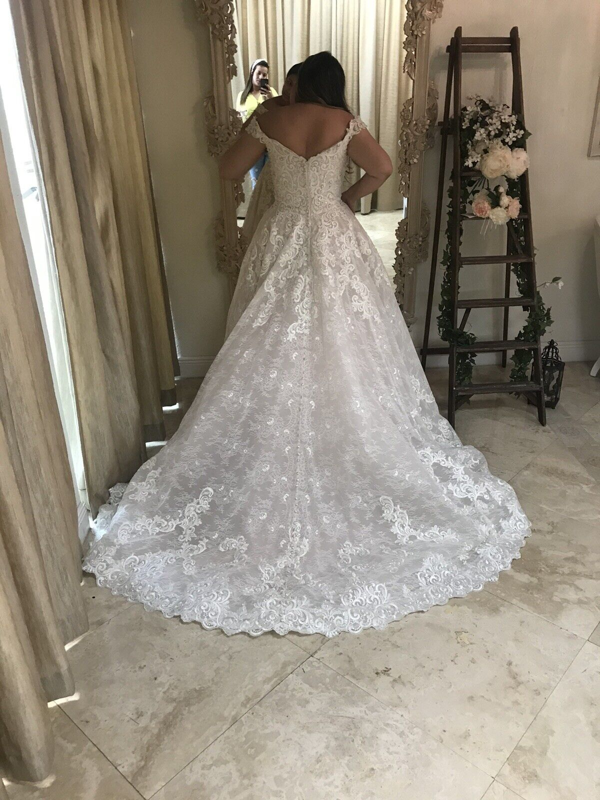 Wedding Dress Allure Couture C461 Size 10 - image 3