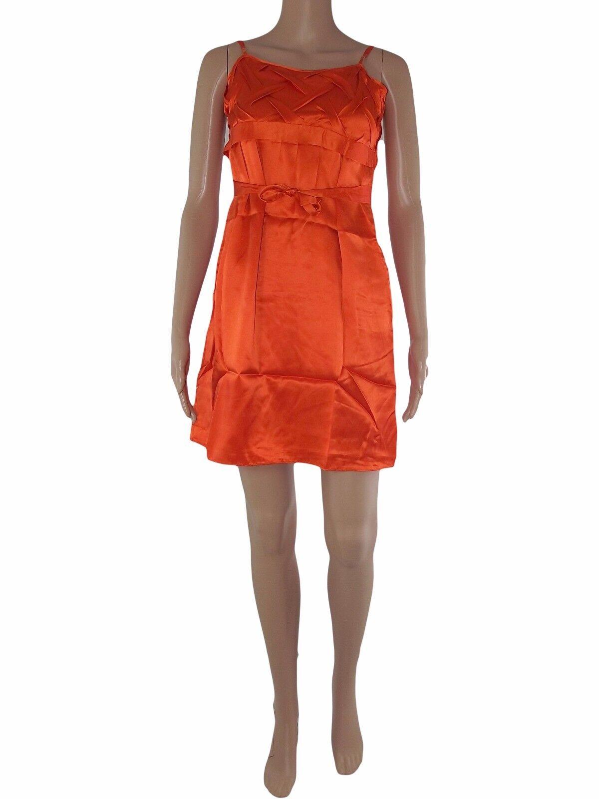 Guess marciano vestito abito donna p p p e arancione seta taglia 42 m medium 17ec3f