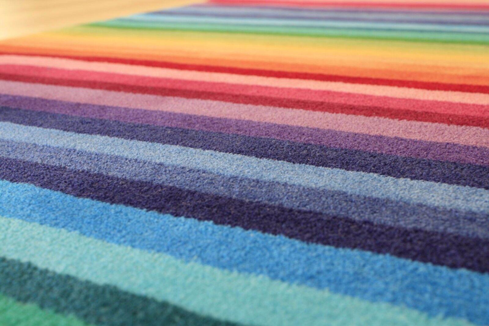 Spielteppich Handtuft Teppich Streifen 80x150 cm cm cm 3782-01 Stripes   Up-to-date Styling  a5de2c