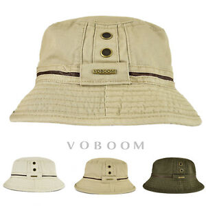 240346d2ccf Image is loading Cotton-Bucket-Hat-Boonie-Hunting-Fishing-Outdoor-Cap-