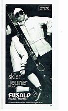 Publicité Advertising 067  1965  Vetements ski fuseaux anoraks Fusalp Hélanca