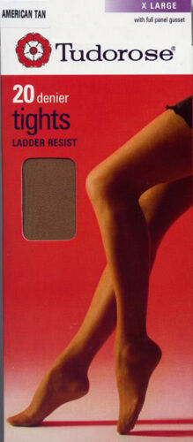 20 DENIER TUDOROSE LADDER RESIST TIGHTS IN 3 SIZES AND 7 SHADES