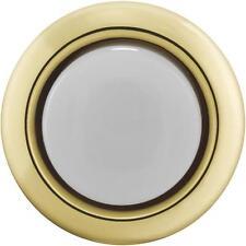 GOLD Carlon Round Lighted Doorbell Push-Button