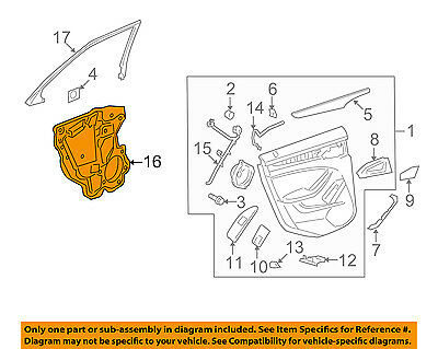 Cadillac GM OEM DeVille Interior-Rear Door-Water Deflector Retainer 25646858