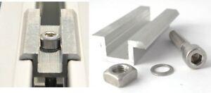 Schraube Vierkantmutter Pv Befestigungsmittel Mittelklemme Vorteilspack 1-16x Rahmenhöhe 30-50mm Heimwerker