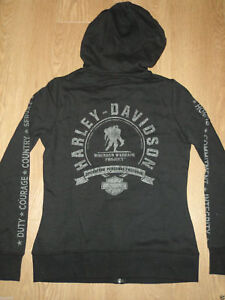 About Harley Title Zip Warrior Davidson Black Wounded Hooded Details New Original Sweater Show Womens QtsrdxCh