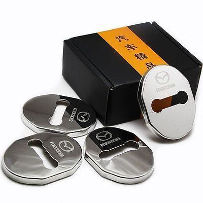 4x Door Strikers Lock Buckle Cap Protective Cover For LR Evoque Freelander 2