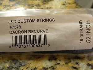 "Archery Reasonable J & D Custom Strings #7378 Dacron Compound 16 Strand 52"" Accessories"