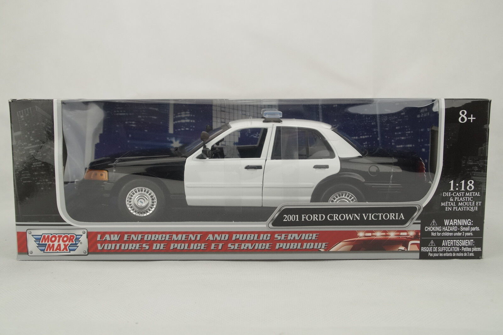 "1 18 Motor Max - 2001 Ford Crown Victoria "" Lapd Policía Coche Car "" Clean Ver."