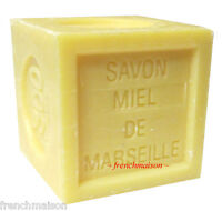 Savon De Marseille French Provence Bee Honey Miel Bath Cube Soap 300g