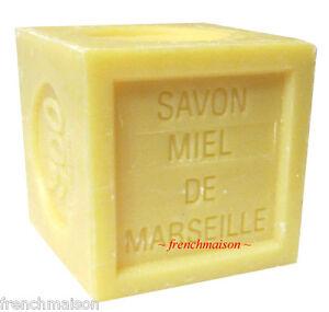 Savon-de-Marseille-Frenchy-Provence-Bee-HONEY-MIEL-French-Bath-Cube-Soap-300g