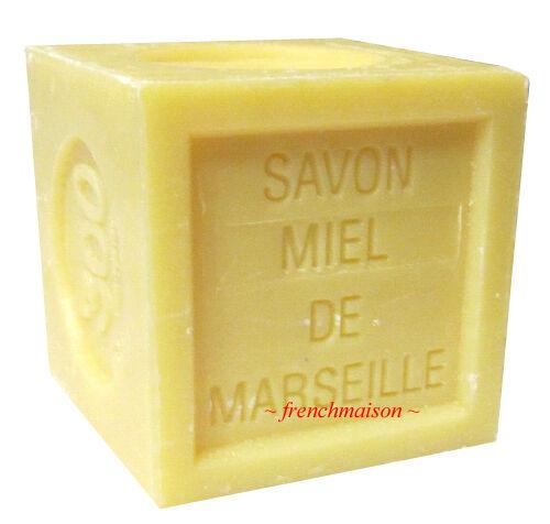 6 Savon de Marseille French Provence Bee HONEY Bath Soap New Handmade Each 300g