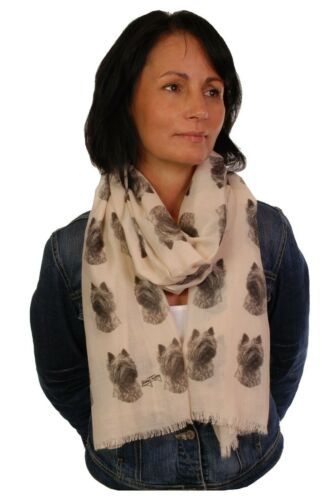 scarf with Cairn Terrier dog on womens fashion printed shawl wrap mike sibley