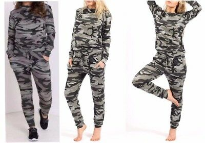 GIRLS/&KIDS Army Camouflage Print Lounge 2 Piece Set Tracksuit Jogging Suit 5-13