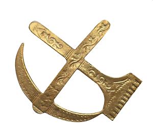 Pick & Rake Gilded Symbol For Orange Order Collarette