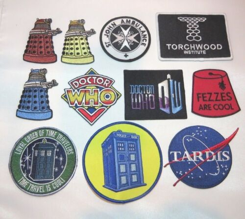 Doctor Who TV Series DELUXE SUPERIOR 11 PIECE PATCH SET