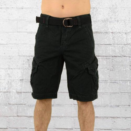 Jet Lag Cargo Hommes Short Take Off 3 Noir Cargo Shorts Hommes Pantalon Court