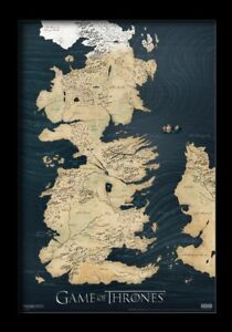 Details about GAME OF THRONES MAP 13x19 FRAMED GELCOAT POSTER JON SNOW on game of thrones maps pdf, game of thrones hbo series, deadwood hbo, true detective hbo, game of thrones hbo store, game of thrones maps and families,