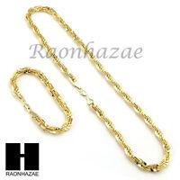 14k Gold Finish 8mm Migos Digital Rope Chain Necklace Bracelet Various Seta