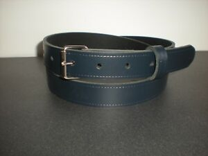 Slight second Navy blue leather belts S to X large sizes  £2.99 TR1 25 mm