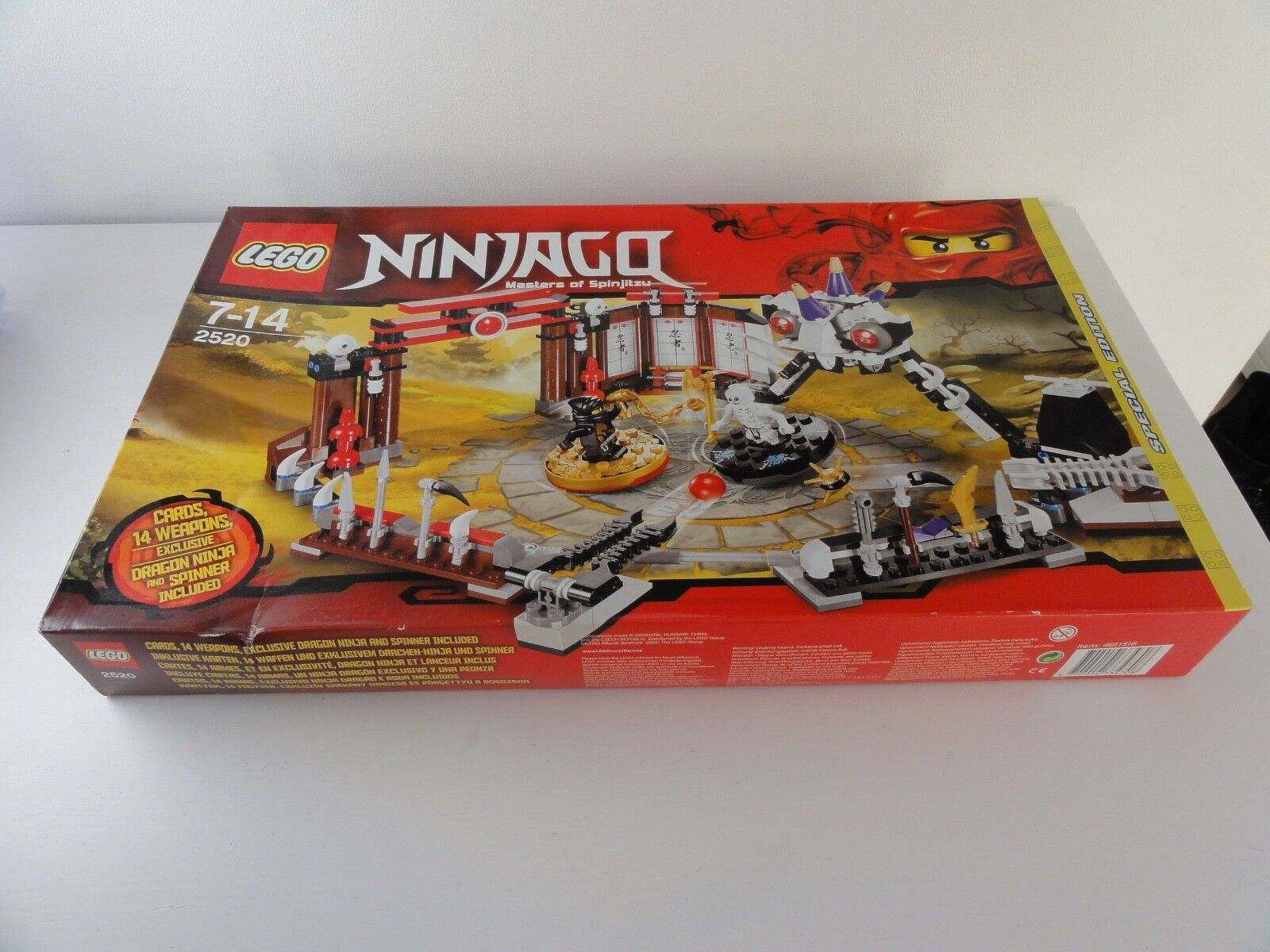Lego 2520 setnr. ninjago  ovp nouveau neu masters of spinjitzu  distribution globale