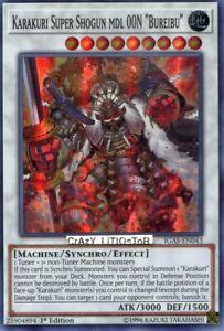 "Edition Super Rare IGAS-EN043 3x Karakuri Super Shogun MDL 00N /""Bureibu/"" Unl"
