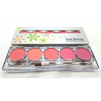 KISS BEAUTY SHADE-1  PROFESSIONAL 5 COLOR BLUSHER PALETTE NO-9747