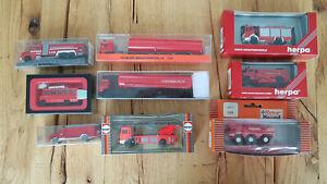 Feuerwehrfahrzeuge-Modellautos-H0-1-87-Herpa-Roco-Preiser-in-OVP