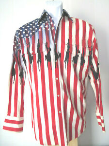 USA-FLAG-WRANGLER-COWBOY-BUTTON-SMALL-SHIRT-stars-stripes-american-western-s