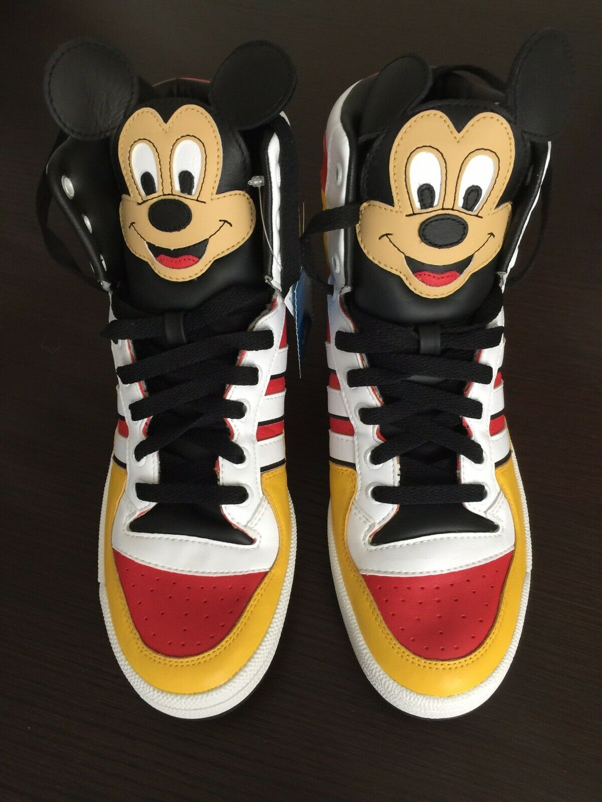 BNWT ADIDAS ORIGINALS Jeremy Scott Mickey Mouse Sneakers US8 LIMITED EDITION