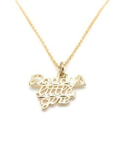 Word-Necklace-18-034-Chain-Pendant-Charm-Daddy-039-s-Little-Girl-Christmas-Gifts-New