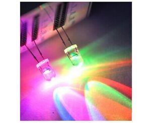 10X LED 3mm Hoch Helligkeit /'4000 20000 Mcd Weiß Blau Rot Grün Gelb Dioden