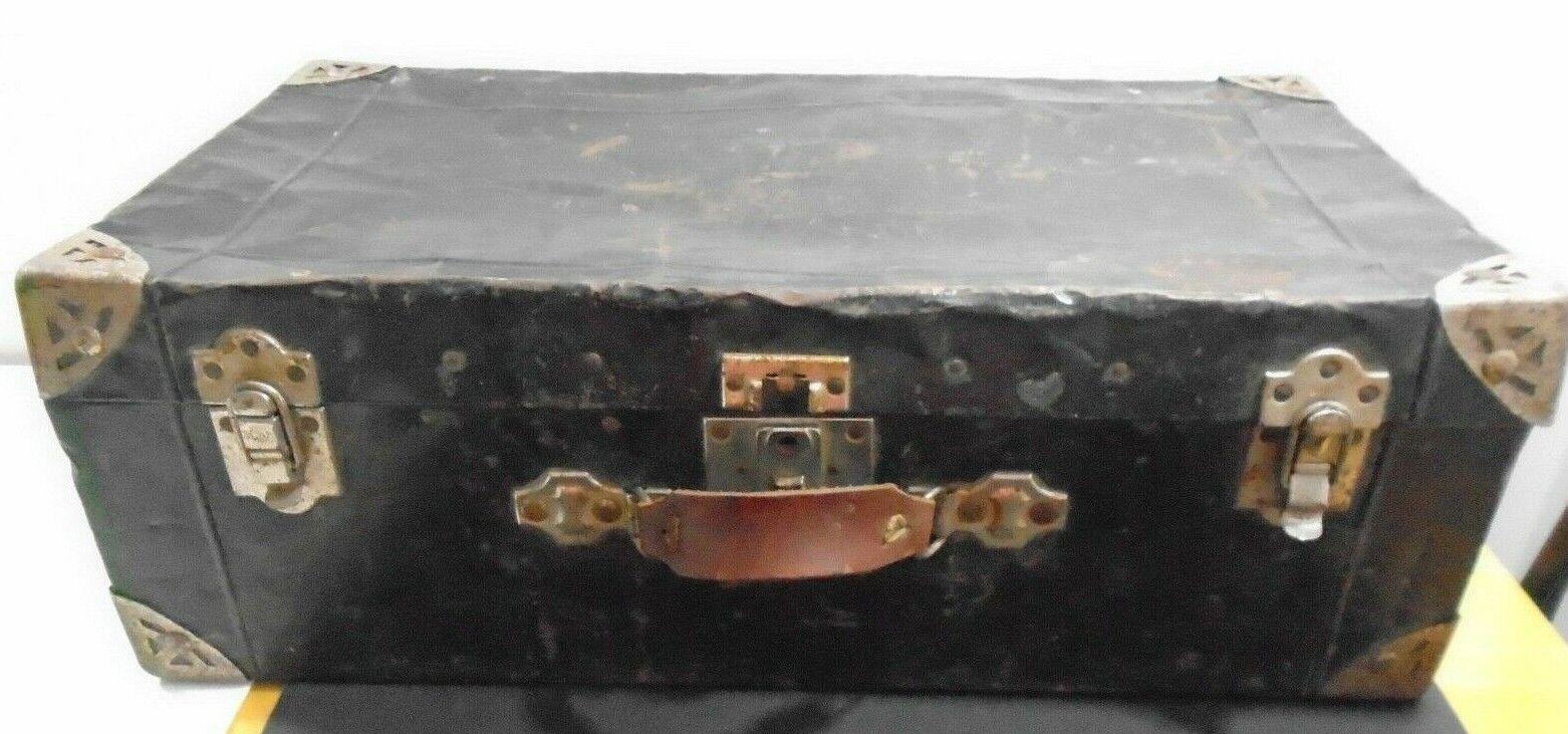 Antique Vintage Métal valise bagages Midwest Trunk & Sac Mfg Co