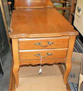 Details about Beautiful Pair of Vintage Bassett Furniture Wooden Night  Stands