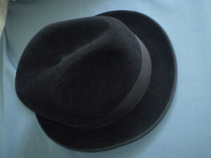 afe009aa7d8 Image is loading VINTAGE-FELT-FEDORA-MAN-BOWLER-HAT-BORSALINO