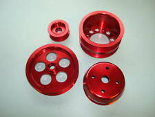 Red Aluminum UR Style FD Pulley Kit 93+ RX-7 FD3S
