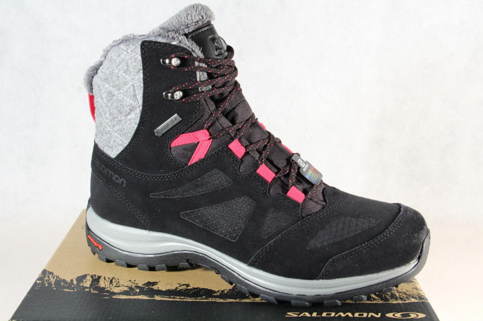 Salomon Ellipse Winter GTX Boots 404699 Boots Black Waterproof Gore-Tex New