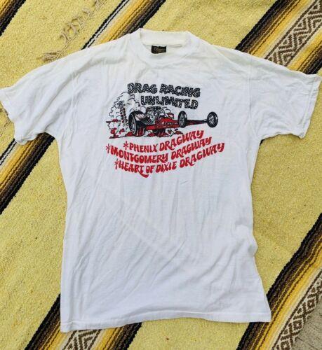 Vintage 60s-70s Dixie Dragway T Shirt Pranges XL t