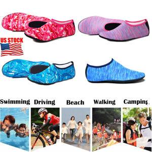 acdfff645e4aa0 Men Women Kids Barefoot Water Skin Shoes Aqua Socks Beach Swim Surf ...