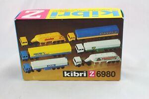 Kibri 6980 Camion-set 6 Pièces Piste Z Nouveau & Neuf Dans Sa Boîte-afficher Le Titre D'origine