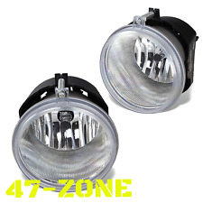 For Dodge Jeep Mitsubishi Clear Lens Chrome Housing Fog Lights Lamps