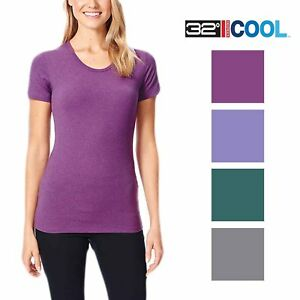 website for discount competitive price buy online Details about 32 Degree Womens Cool Active Tee Shirt New Without Tags