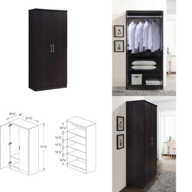 2 Door Wardrobe Cabinet Armoire Storage