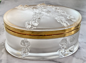 Lalique-Coppelia-Hinged-Dresser-Box-Large-Signed-Authentic-Great-Condition