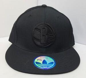 f9547addaf5 Image is loading NBA-Brooklyn-Nets-Fitted-Hat-Flat-Brim-Made-