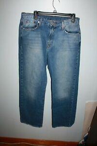 Salopette Moyen Lavage Coupe 803049470328 Taille Mens Brand Longueur 34x30 Lucky Court Classique Jeans qCTwSP