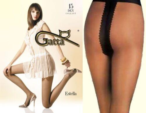 "Classic Tights Gatta /""ESTELLA/"" 15 Denier T-Band Semi-Mat"
