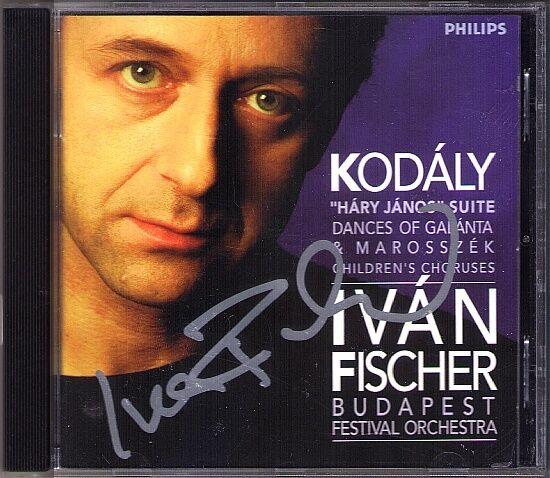 Ivan FISCHER Signiert KODALY Hary Janos Galanta Dances Tancnota Gergely-Jaras CD