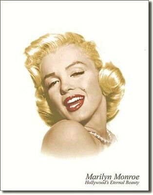 Marilyn Monroe Hollywood's Eternal Beauty TIN SIGN metal poster wall decor 1214