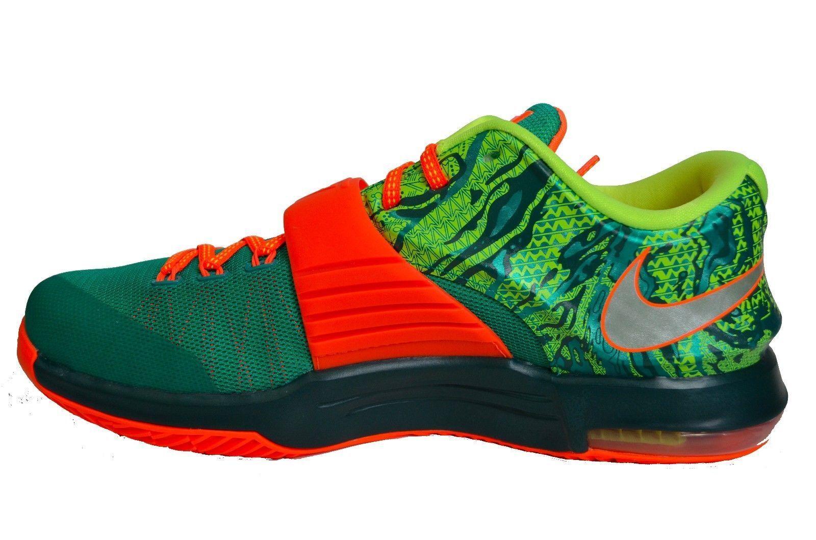 New Nike Men's KD Vll Elite Basketball Shoe Green/Silver 653996-303 ***